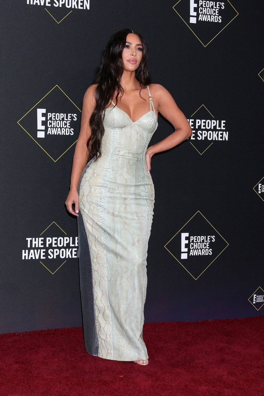 Kim Kardashian à la 45ème cérémonie des People's Choice Awards, à Santa Monica (Californie), le 10 novembre 2019.