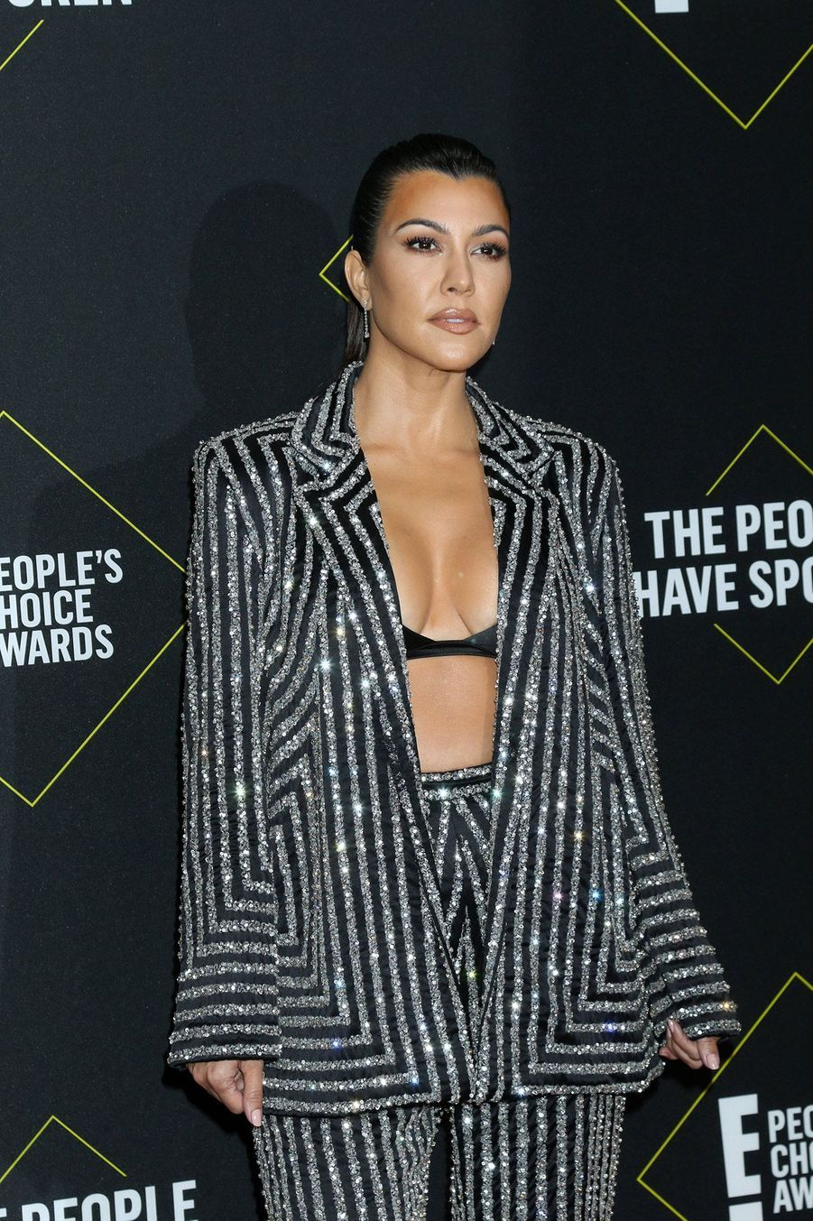 Kourtney Kardashian à la 45ème cérémonie des People's Choice Awards, à Santa Monica (Californie), le 10 novembre 2019.