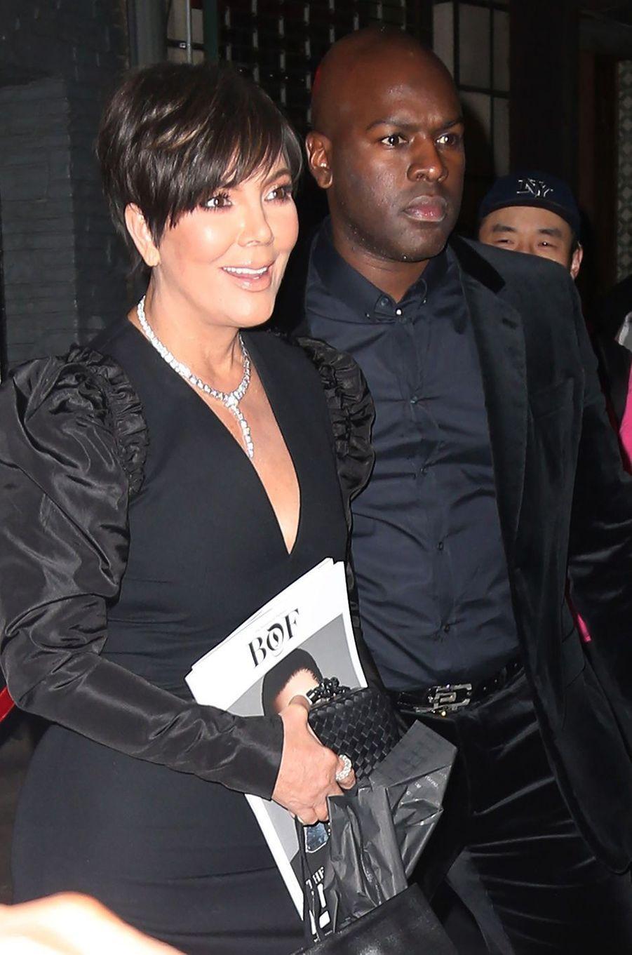 Kim Kardashian, Kris Jenner, Kendall Jenner et Kylie Jenner à New York, le 8 mai 2018.