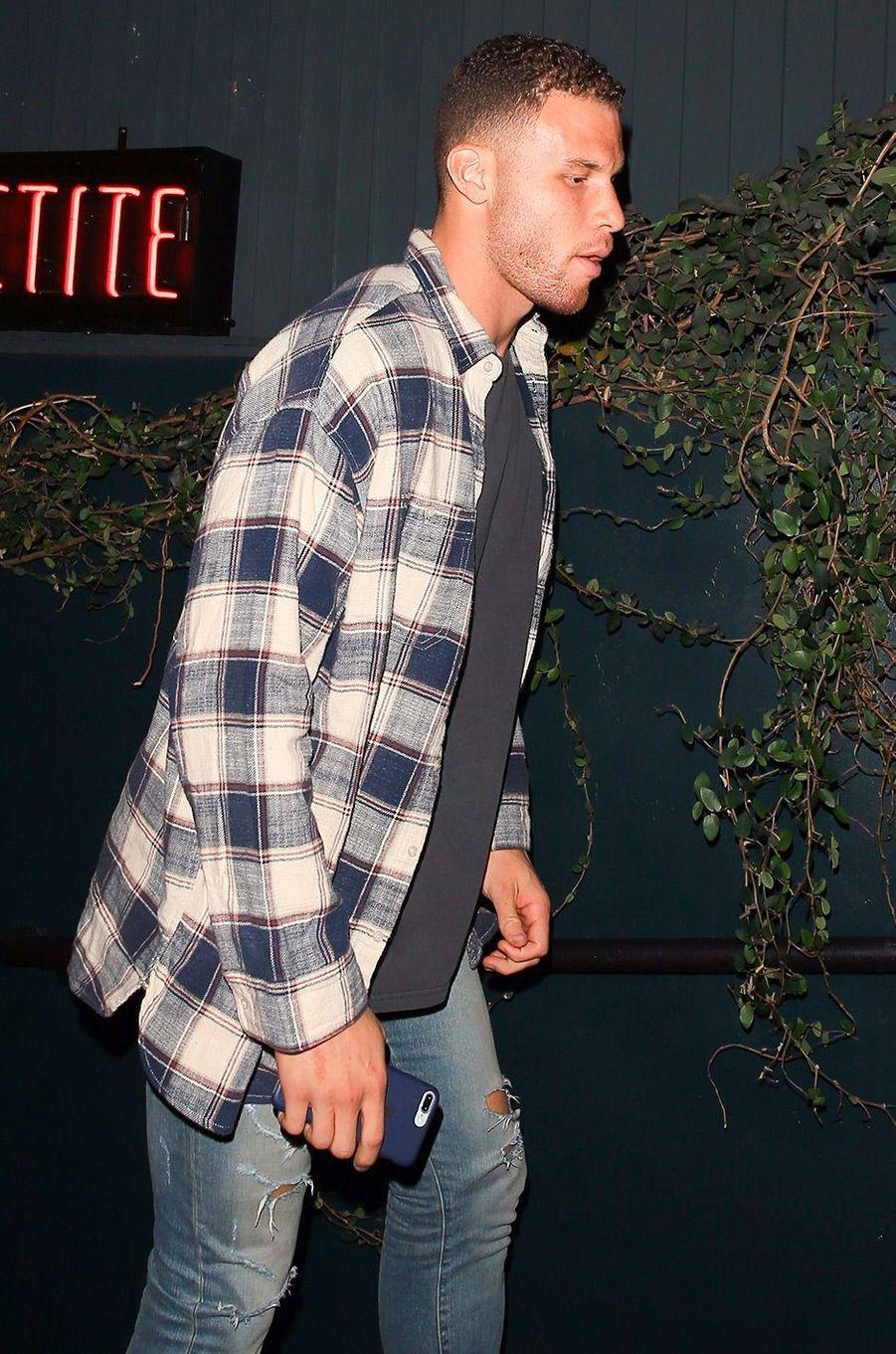 Blake Griffin arrive à l'anniversaire de Kendall Jenner