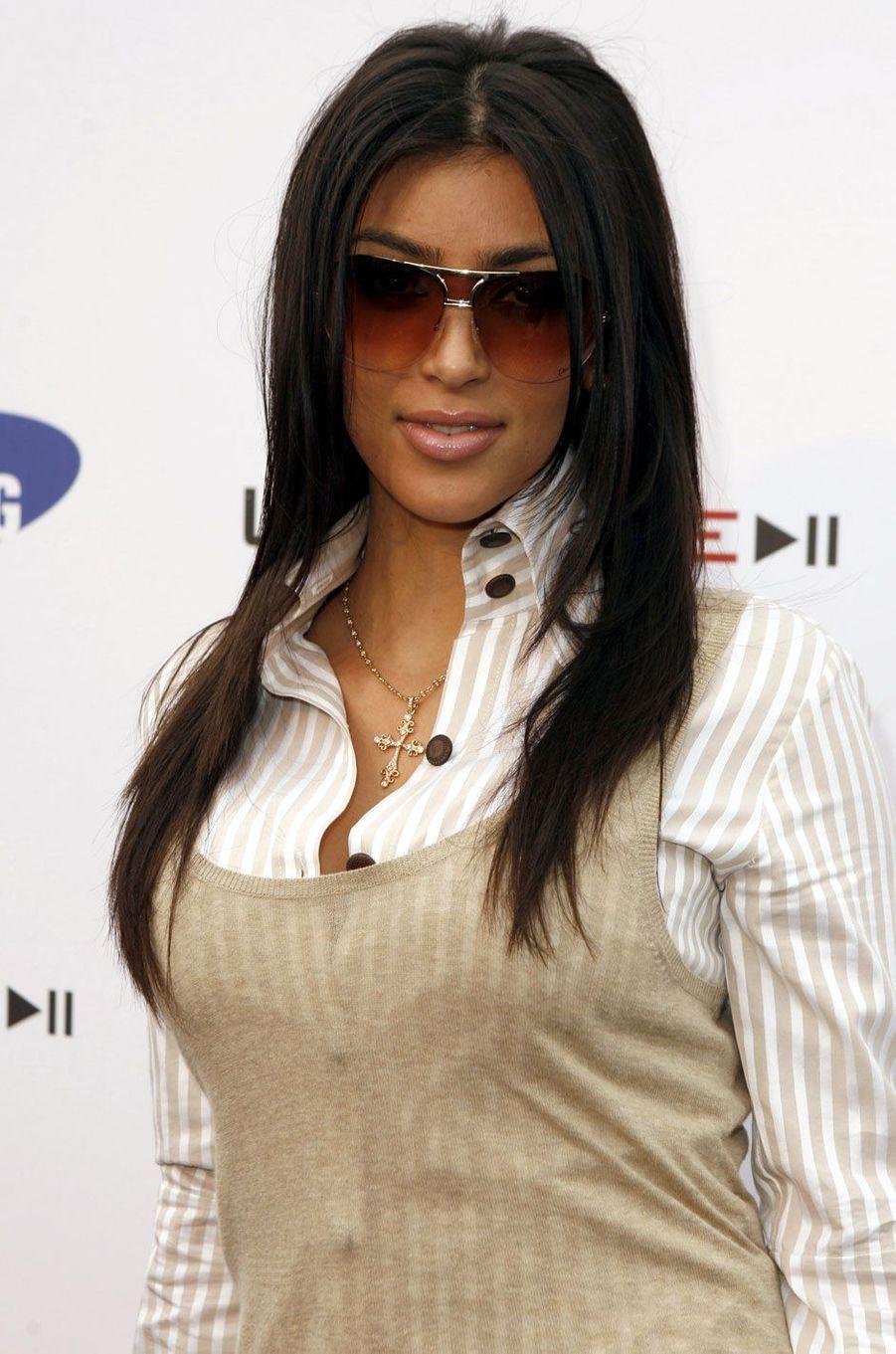 Kim Kardashian en soirée.