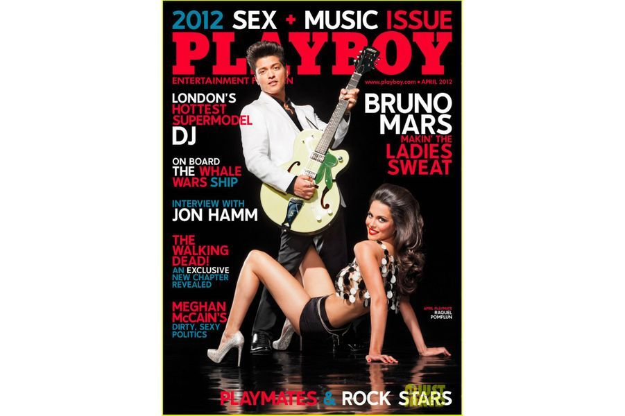 Bruno Mars en couverture de Playboy