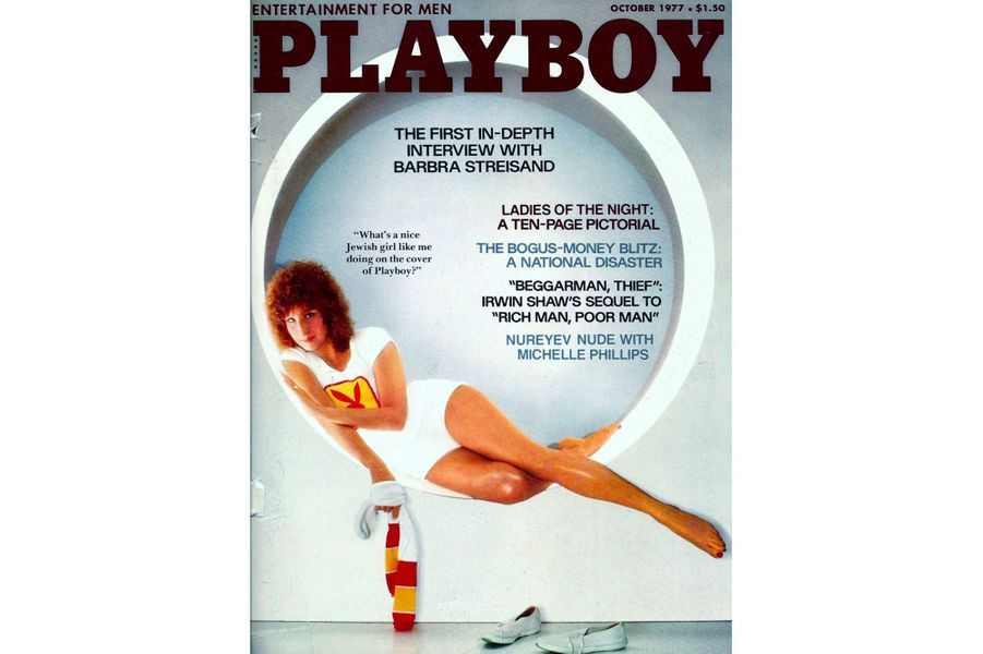 Barbra Streisand en couverture de Playboy