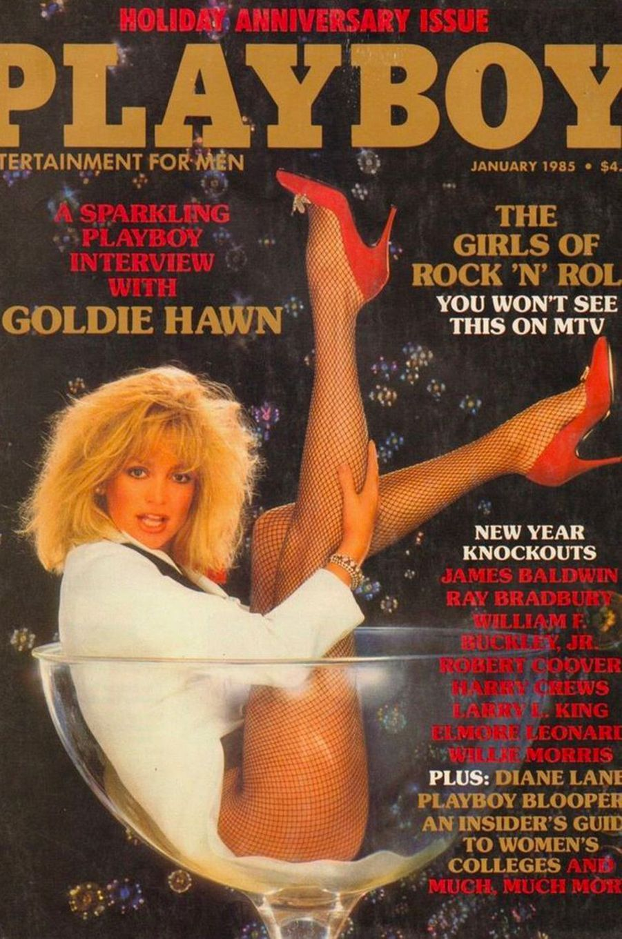Goldie Hawn en couverture de Playboy
