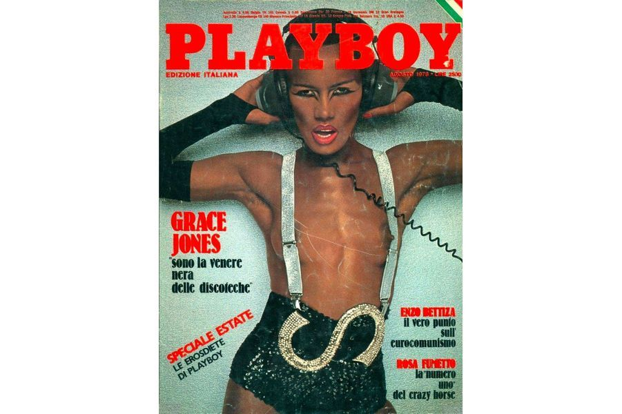 Grace Jones en couverture de Playboy
