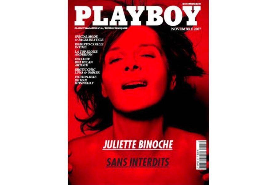 Juliette Binoche en couverture de Playboy