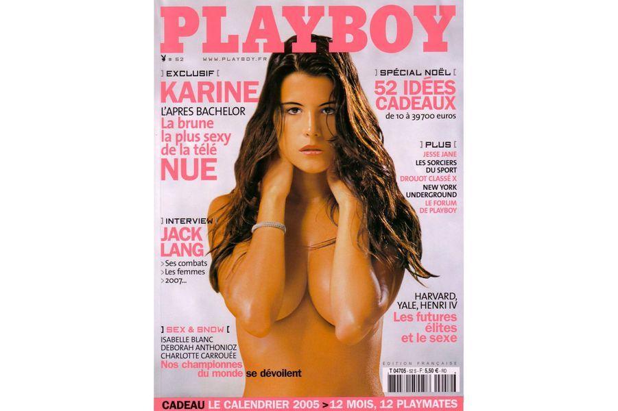 Karine Ferrien couverture de Playboy