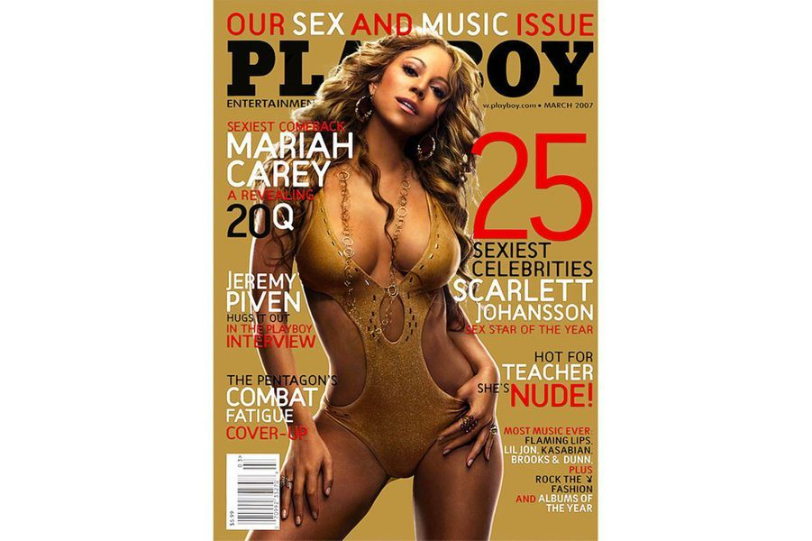 Mariah Carey en couverture de Playboy