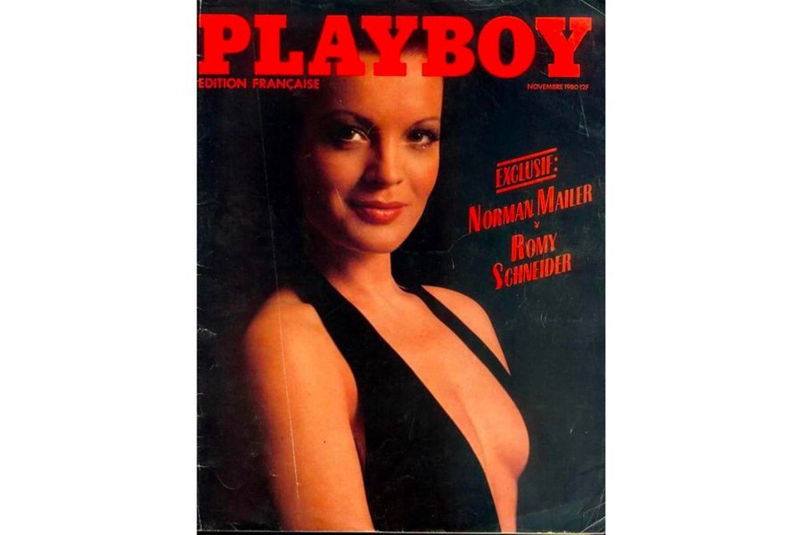 Romy Schneideren couverture de Playboy