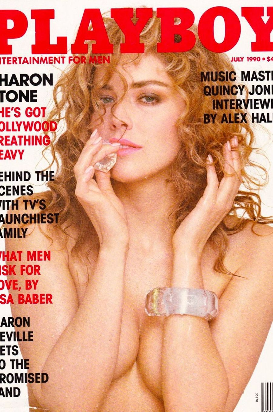 Sharon Stone en couverture de Playboy