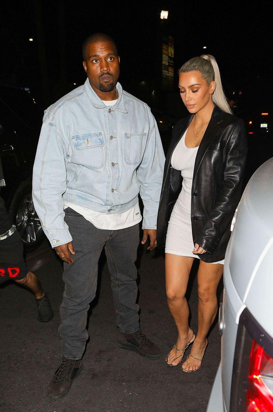Kim Kardashian avec son mari Kanye West le 26 octobre 2017