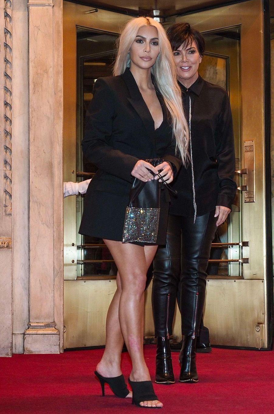Kim Kardashian avec sa mère Kris Jenner le 9 septembre 2017