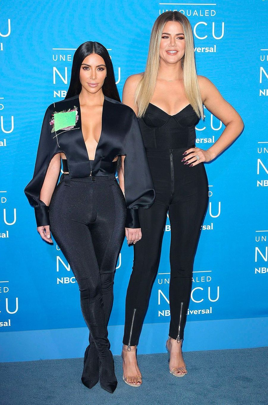 Kim Kardashian avec sa soeur Khloé le 15 mai 2017