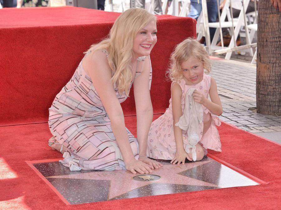 Kirsten Dunst et sa filleule.