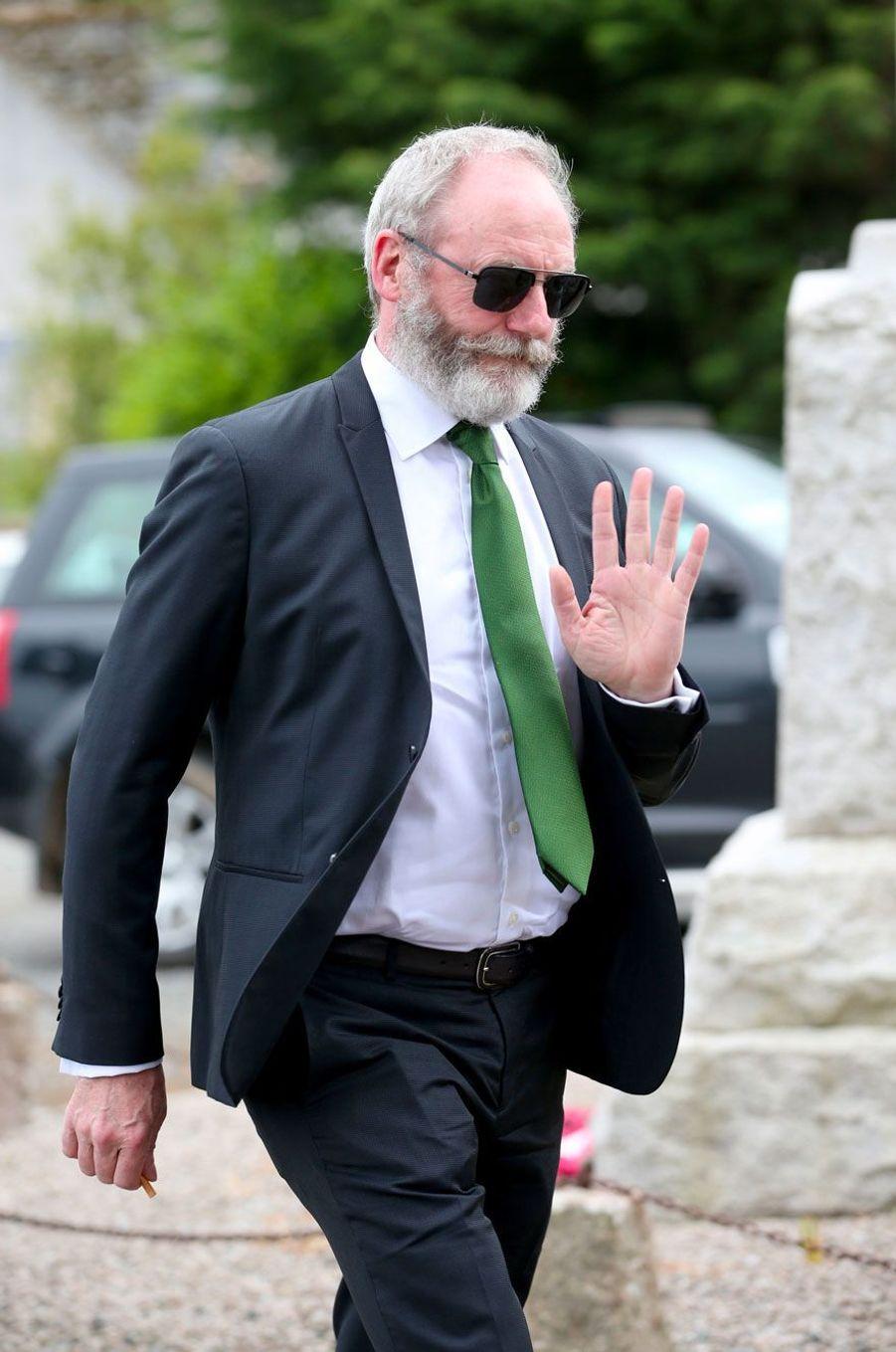 Arrivée de Liam Cunningham (Ser Davos Seaworth dans «Game of Thrones»), samedi.