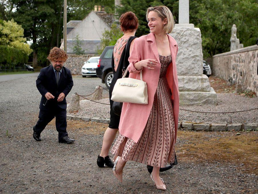 Arrivée de Peter Dinklage et Emilia Clarke (Daenerys Targaryendans «Game of Thrones»), samedi.