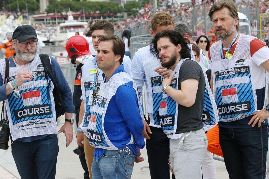 Kit Harington, Liam Cunningham et Nikolaj Coster-Waldau au Grand Prix F1 de Monaco dimanche