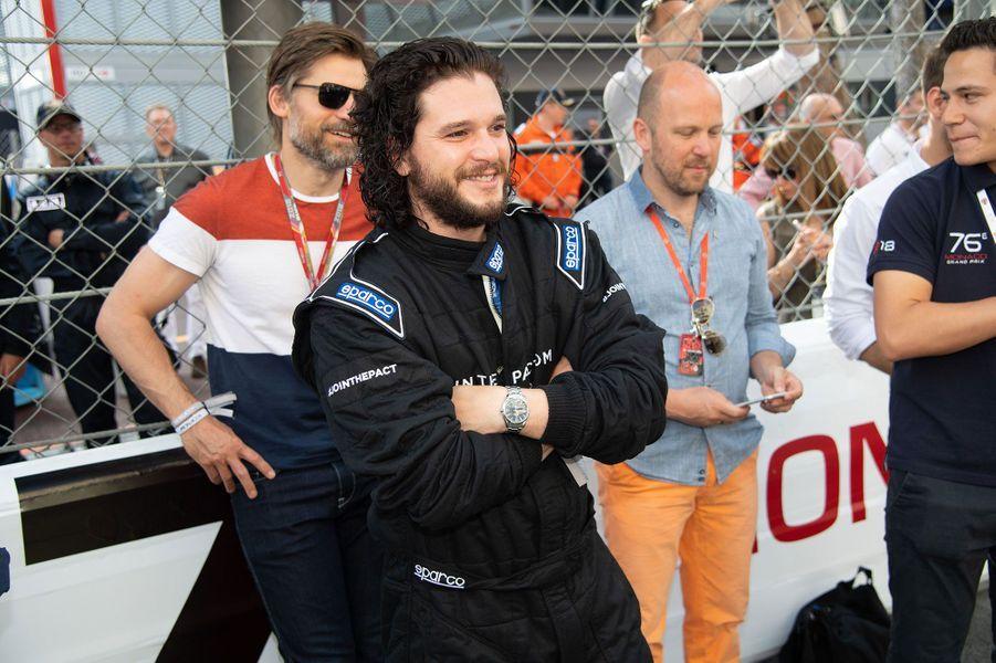 Kit Harington et Nikolaj Coster-Waldau au Grand Prix F1 de Monaco dimanche