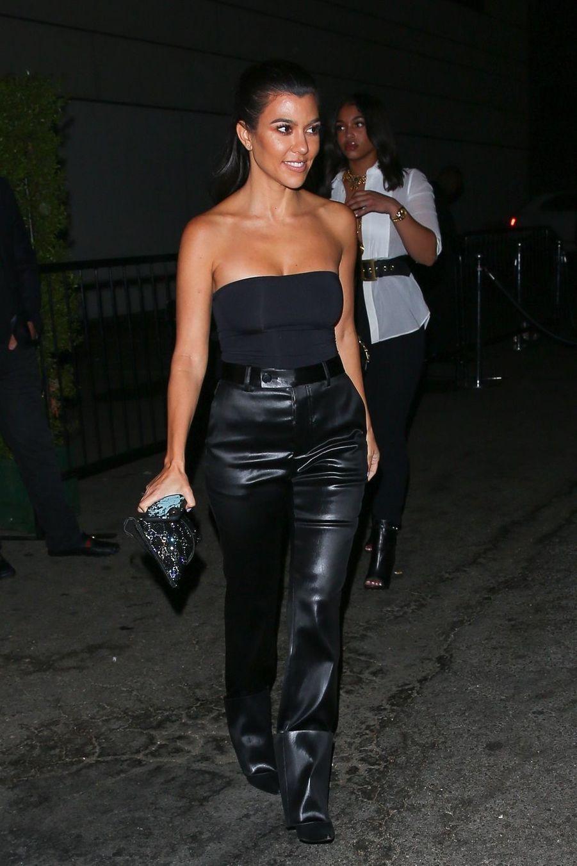Kourtney Kardashian quitte la soirée d'anniversaire de P. Diddy à West Hollywood le 4 novembre 2018