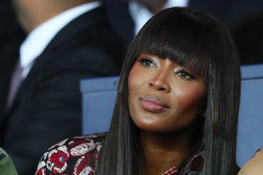 Naomi Campbell dans les tribunes du Parc des Princes