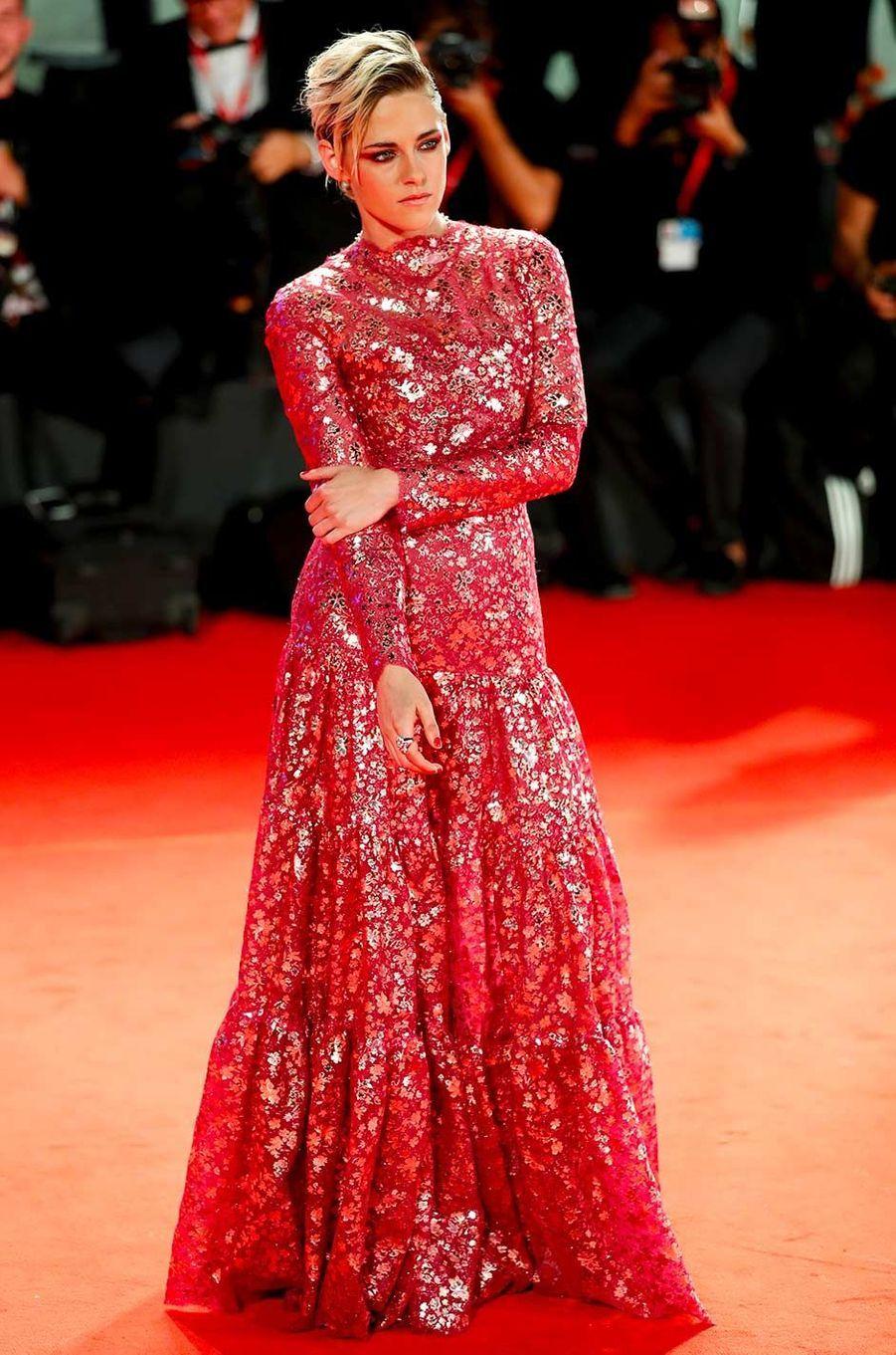 Kristen Stewart sur le tapis rouge de Venise, le 30 août 2019.