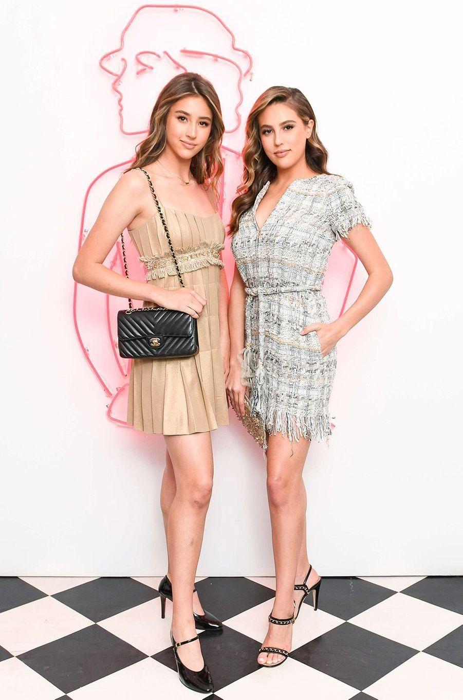 Scarlet et Sophia Stallone à la soirée Chanel House Beach Party, à Los Angeles, le 28 février 2018.