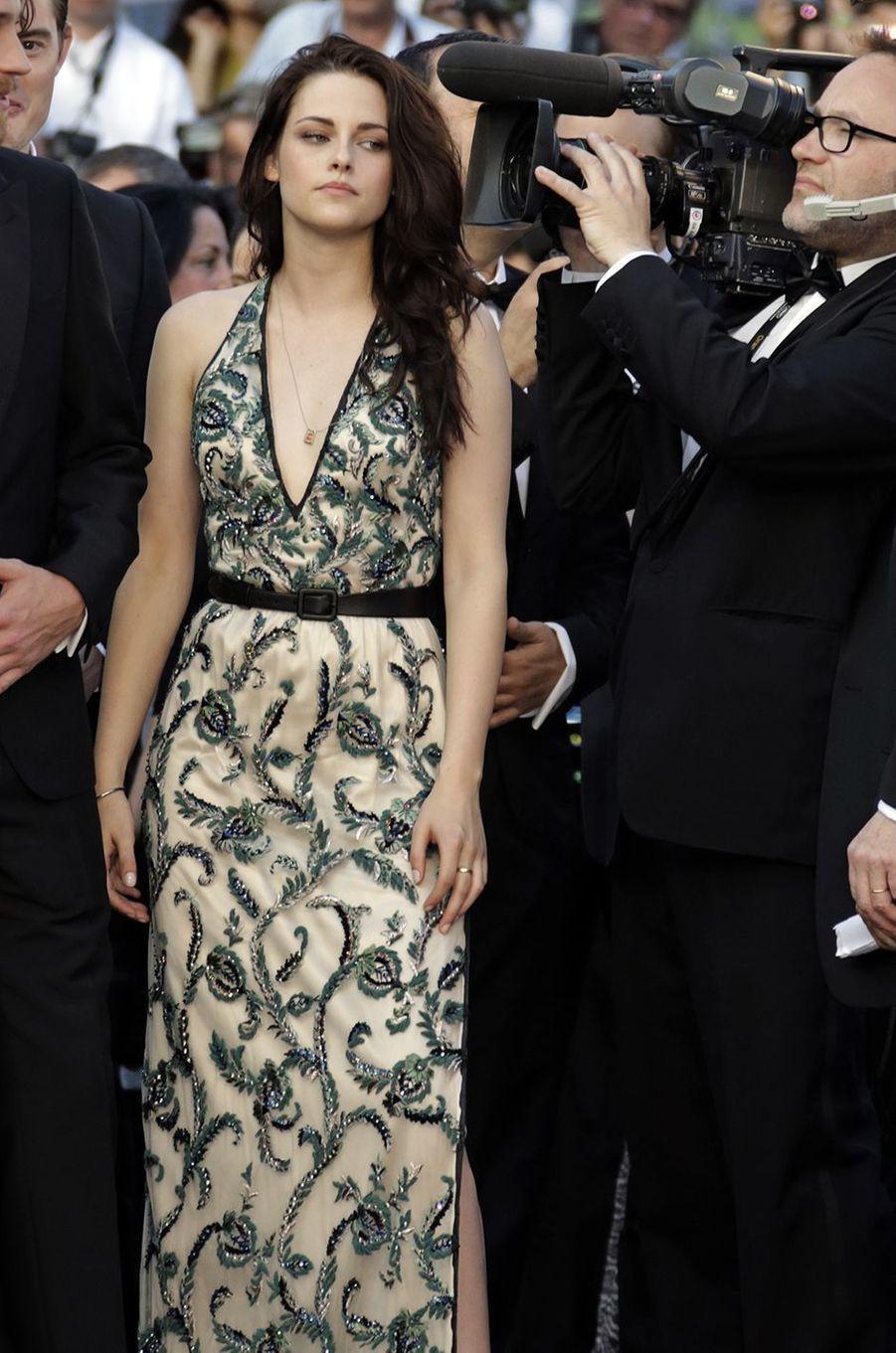 Kristen Stewart présente «Sur la route» à Cannes en 2012.