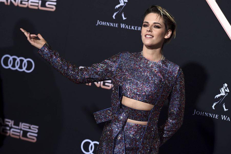 Kristen Stewart à l'avant-première du film «Charlie's Angels» à Los Angeles le 11 novembre 2019