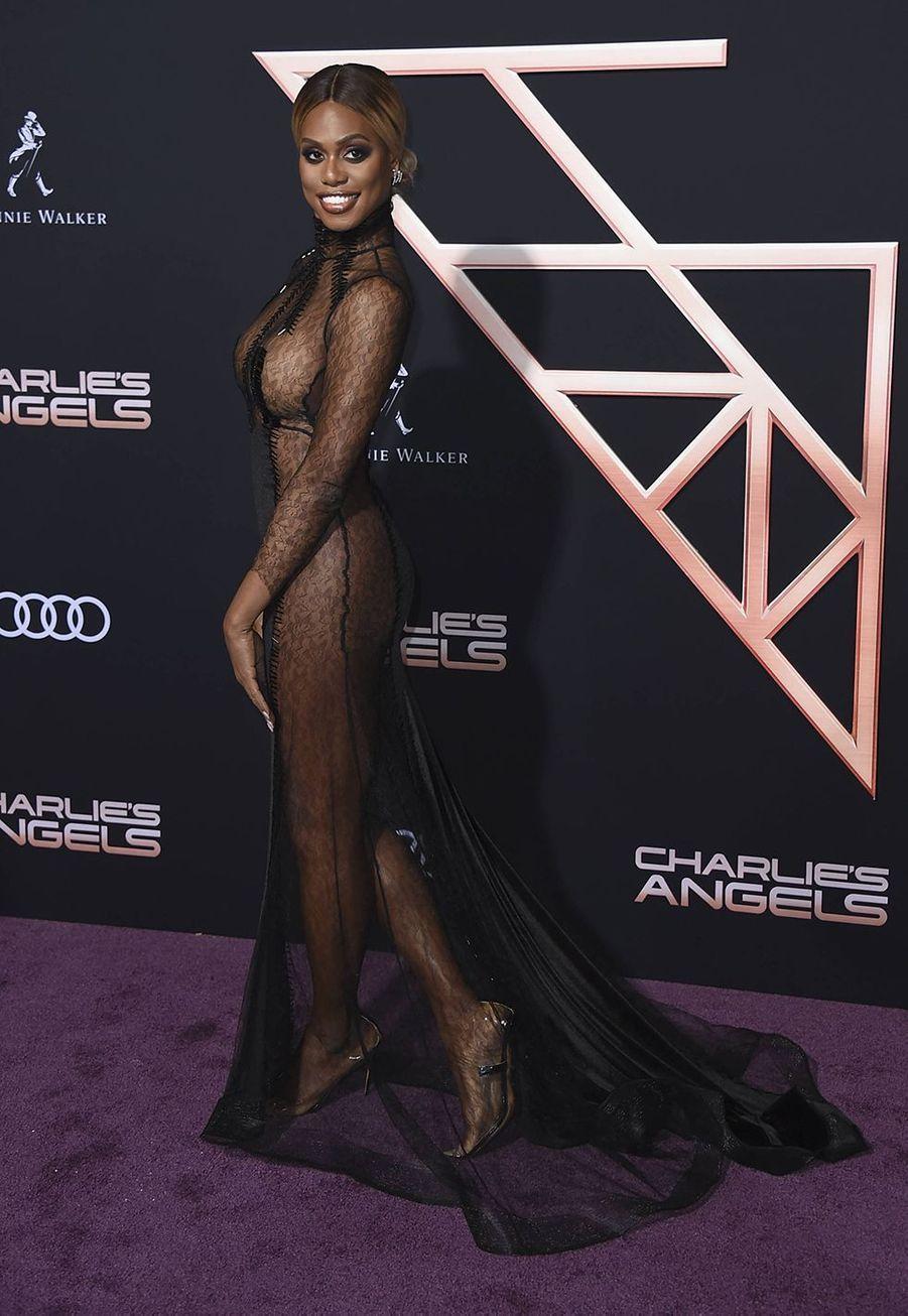 Laverne Coxà l'avant-première du film «Charlie's Angels» à Los Angeles le 11 novembre 2019