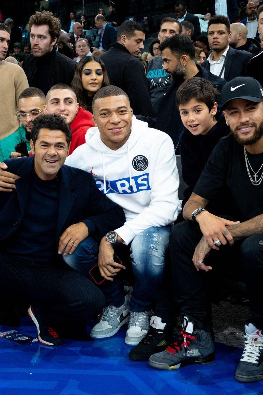 Neymar, Kylian Mbappé et Jamel Debbouze
