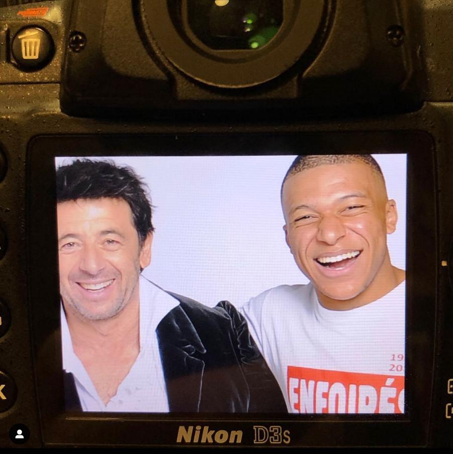Kylian Mbappé et Patrick Bruel dans les coulisses des Enfoirés, le 28 janvier 2019
