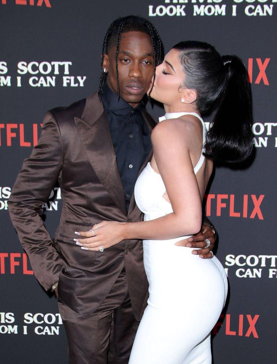 """Kylie Jenner et Travis Scott à la première de """"Look Mom I Can Fly"""""""