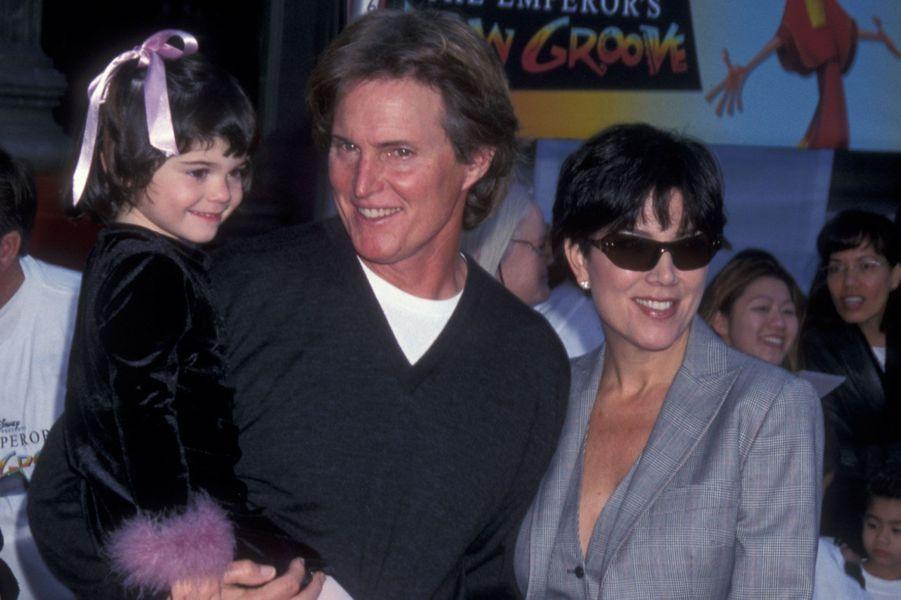 Kylie Jenner avec ses parents en 2000