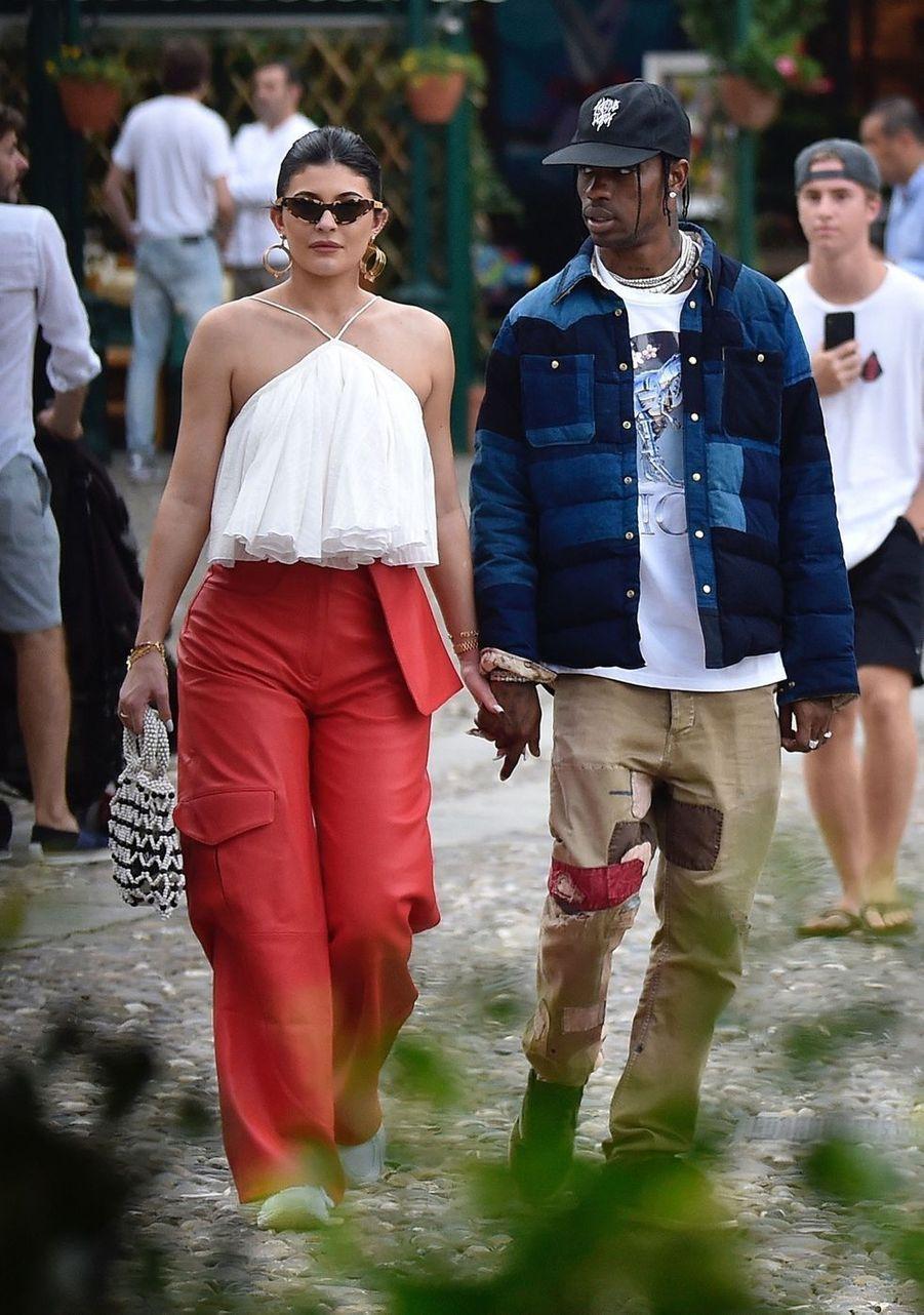 Kylie Jenner et Travis Scott à Portofino le 12 août 2019