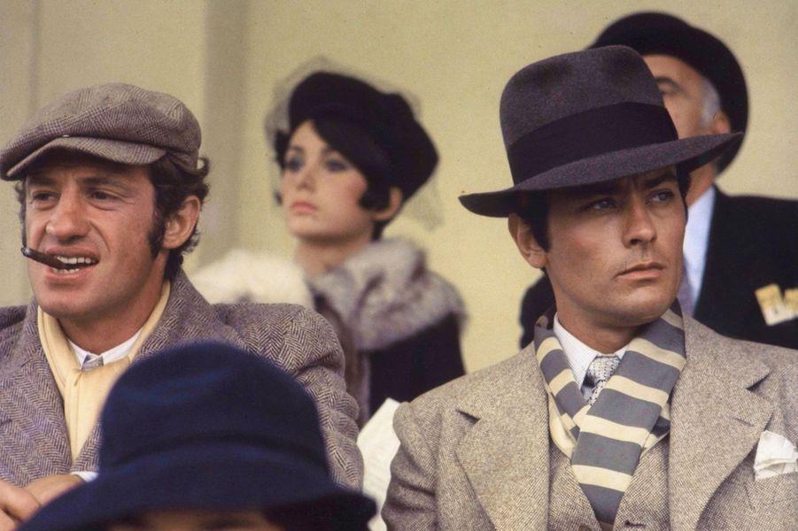 Jean-Paul Belmondo et Alain Delon en 1970