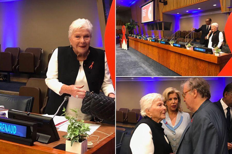 Line Renaud jeudi à l'ONU.