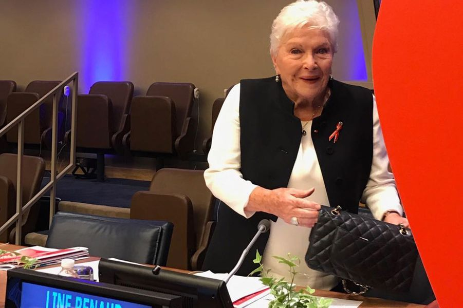 Line Renaud, jeudi à l'ONU.