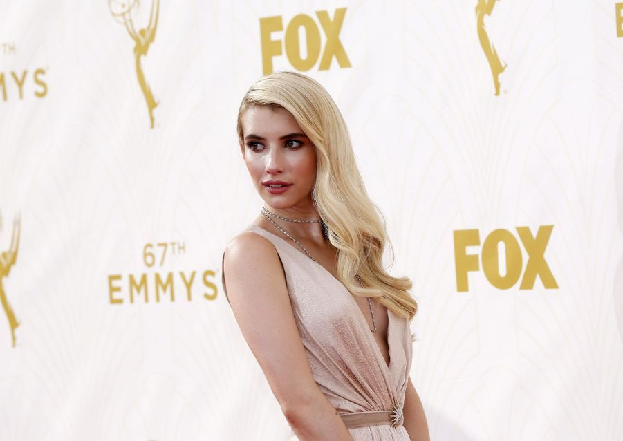 Emma Roberts aux Emmy Awards à Los Angeles en septembre 2015