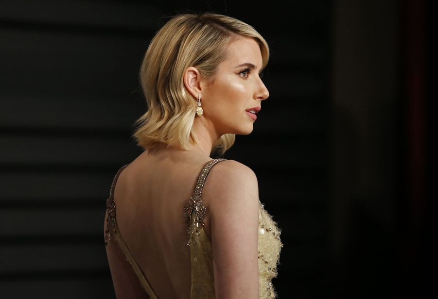 Emma Roberts à l'after-party des Oscars organisée par «Vanity Fair» à Los Angeles en mars 2018