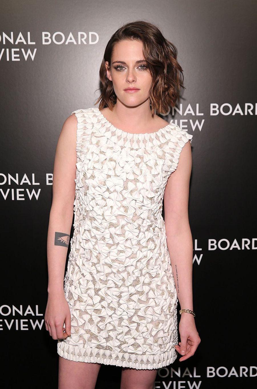 Kristen Stewart lors de la soirée National Board of Review Gala à New York en janvier 2016