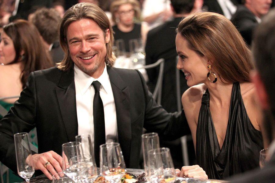 Brad Pitt et Angelina Jolie, au temps du bonheur.
