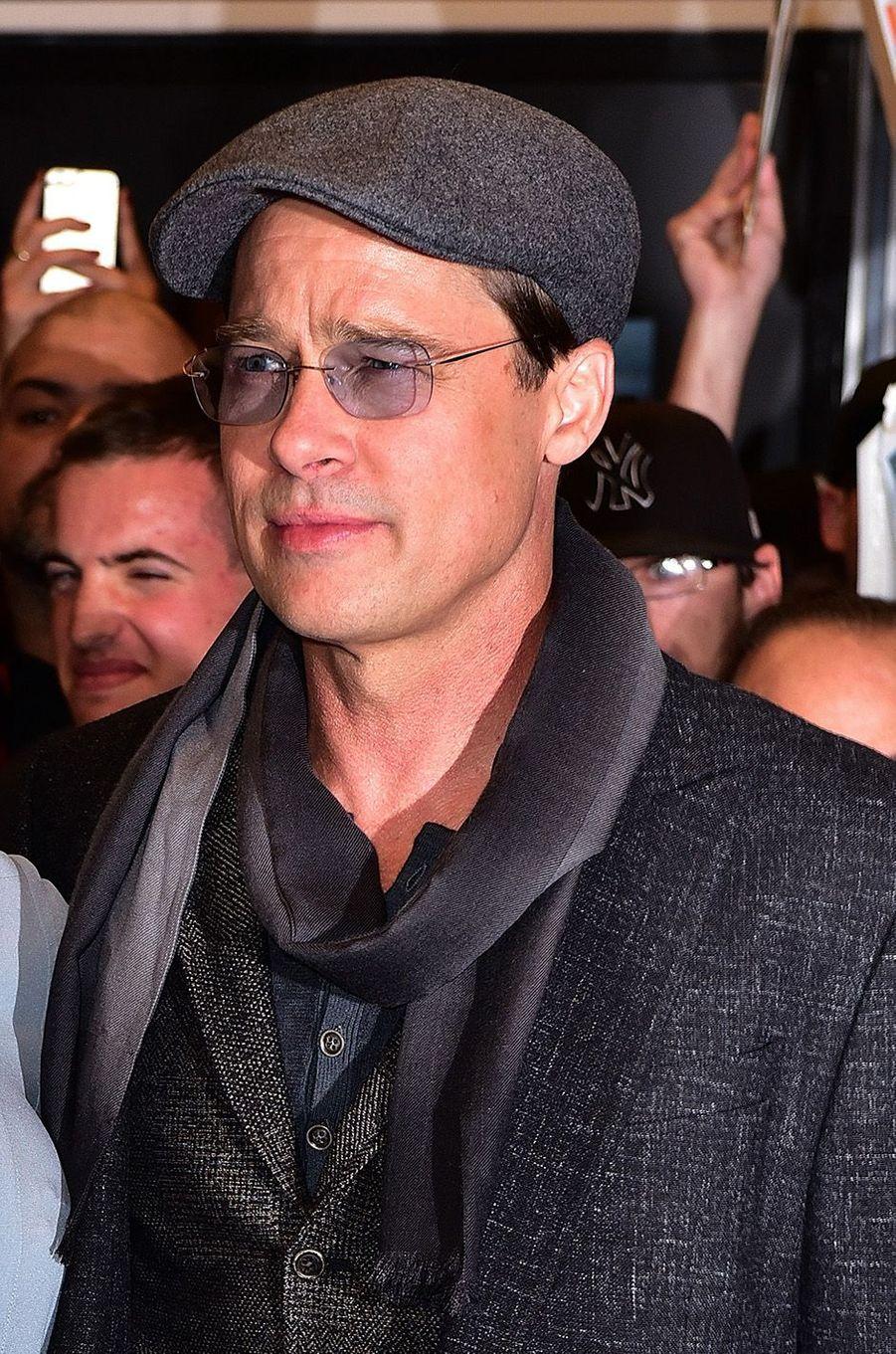 Brad Pitt aux côtés d'Angelina Jolie en 2015.