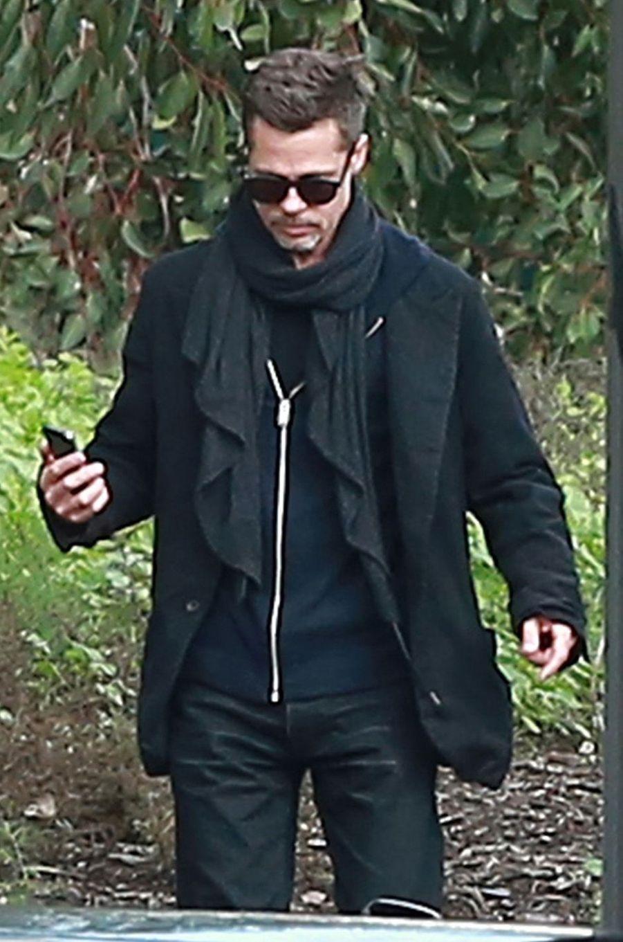 Brad Pitt, dans les rues de Santa Monica, très amaigri, janvier 2017.