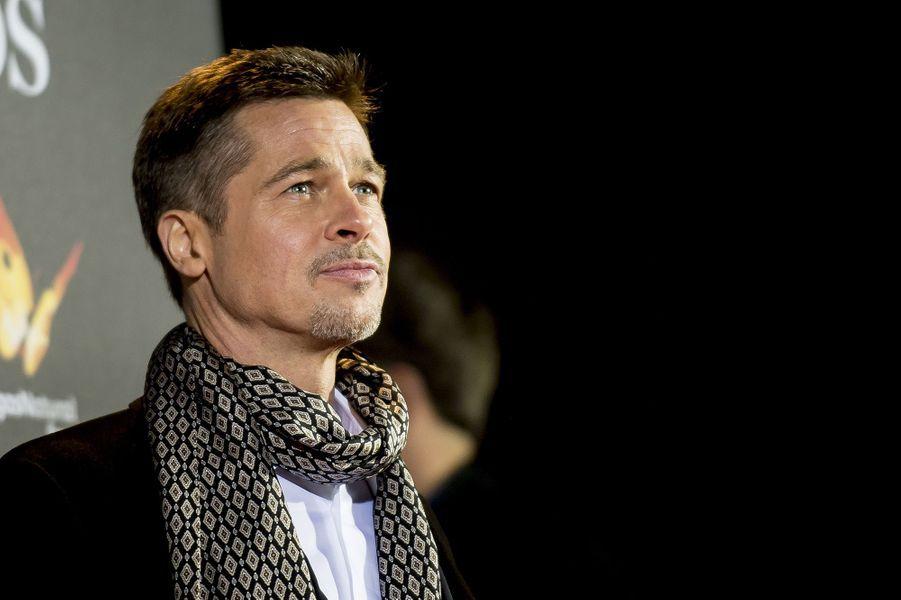 Brad Pitt assure la promotion d'Alliés après sa séparation avec Angelina Jolie, novembre 2016.