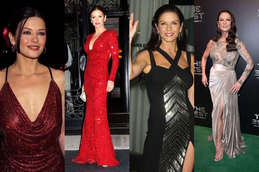 L'évolution physique de Catherine Zeta-Jones.