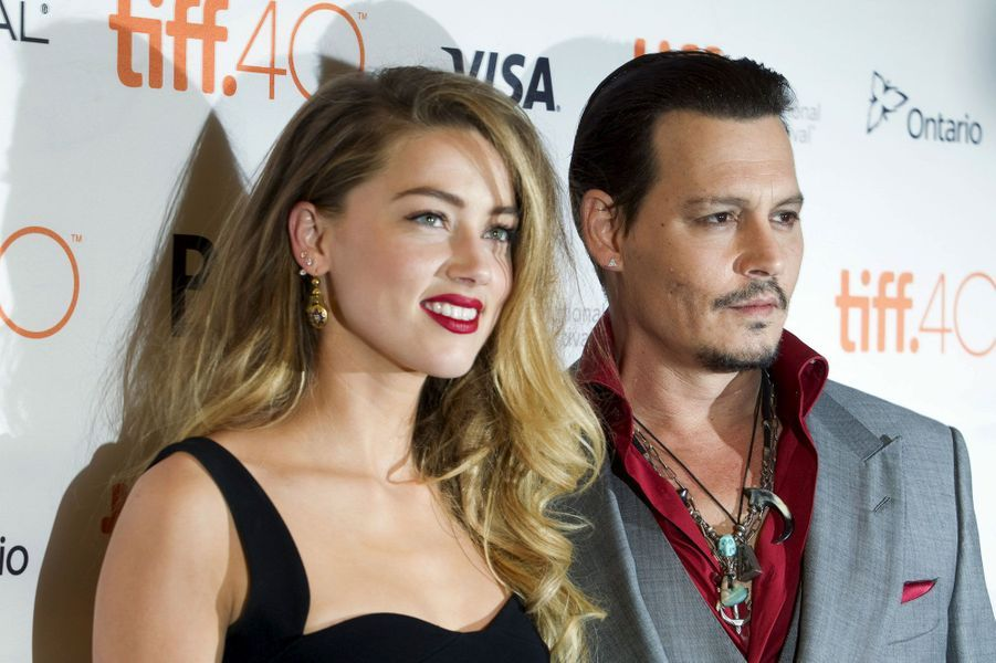 Johnny Depp, avec Amber Heard, en 2015