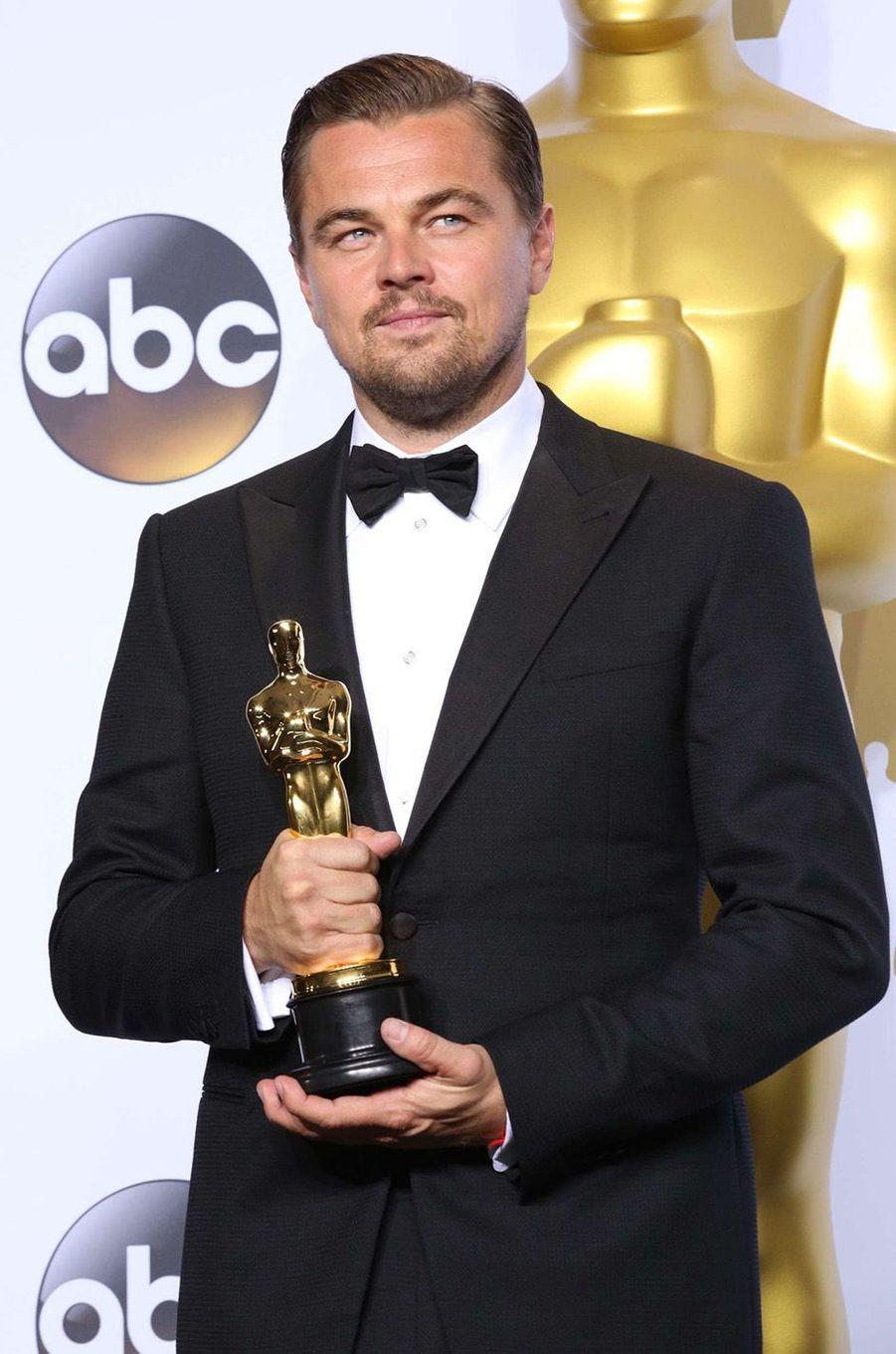Leonardo enfin récompensé par un Oscar, février 2016.