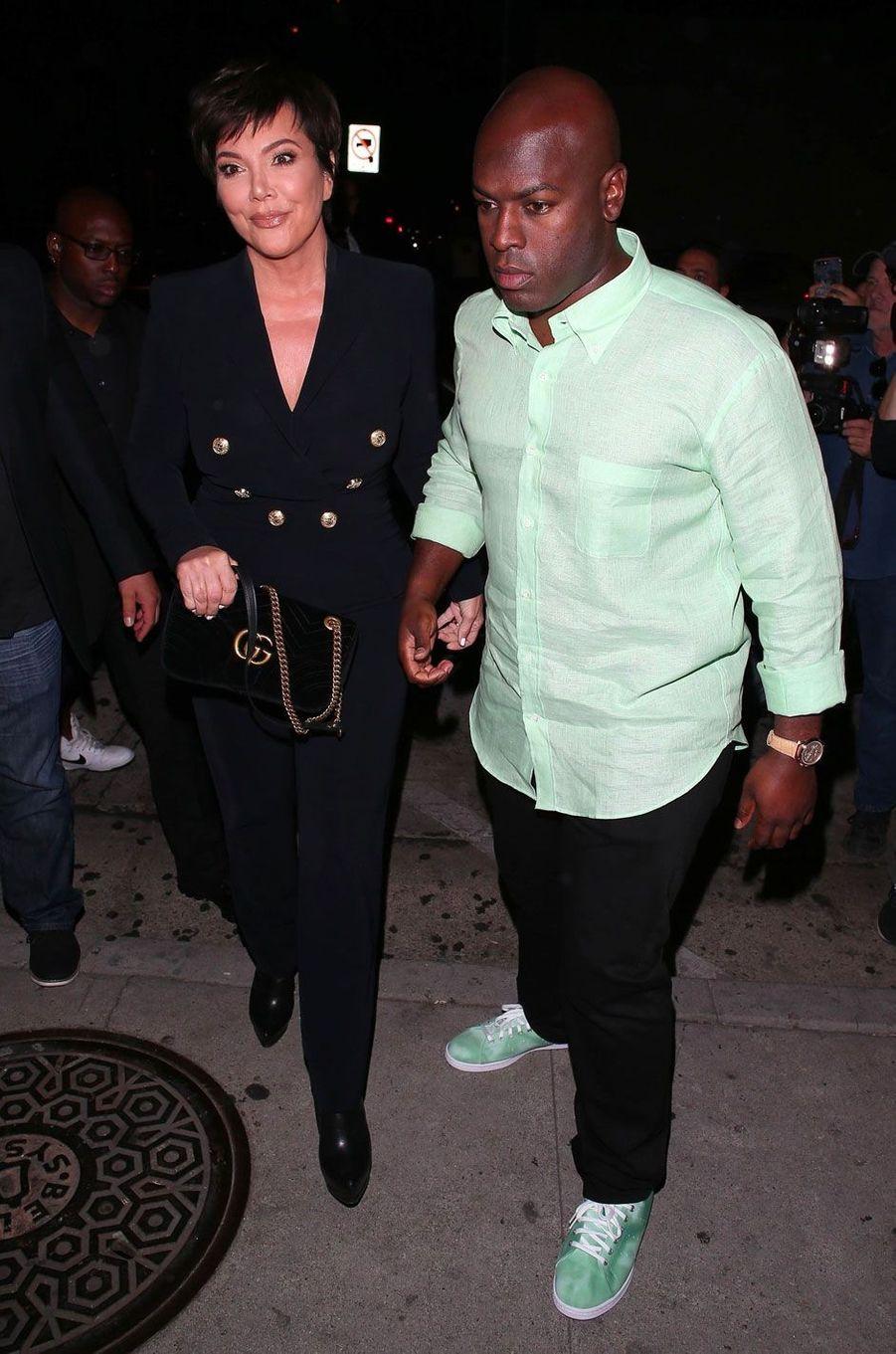 Kris Jenner et son compagnon à la soirée d'anniversaire de Kylie Jenner le 9 août
