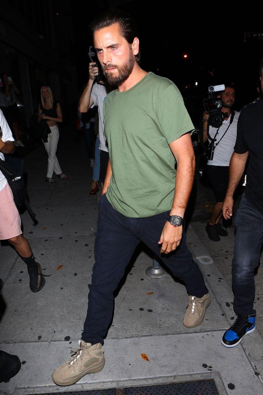 Scott Disick à la soirée d'anniversaire de Kylie Jenner le 9 août