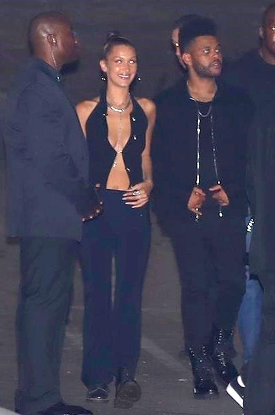 Bella Hadid et The Weeknd à la soirée d'anniversaire de Kylie Jenner le 9 août